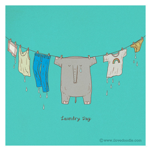 Laundry Day on Flickr.Doodle Everyday 254 ilovedoodle at Portfolio / Facebook / Twitter / Tumblr / Etsy