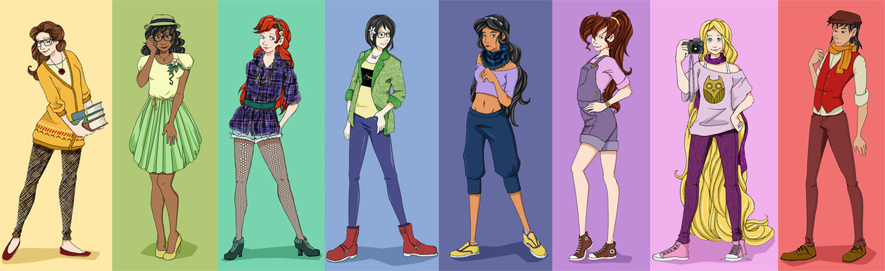 Hipster Disney Princesses by Mayanna