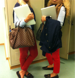 betoogood:  charlottetheprep:  prep school  We wear red pants on Wednesdays
