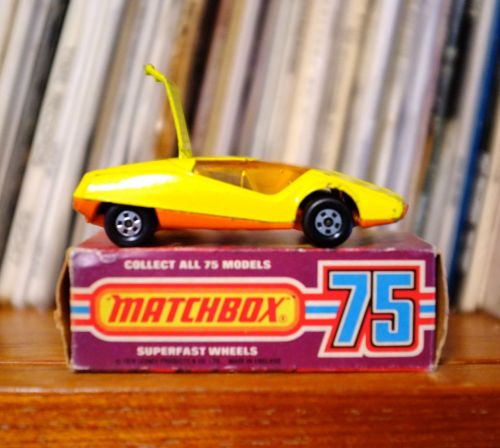 Released in 1975 the 'Datsun 126X' was one of my favourite Matchbox cars. At some point in my childhood I smashed up my original one (of course), so I was very happy to find this one recently on eBay in great condition and with the original box.