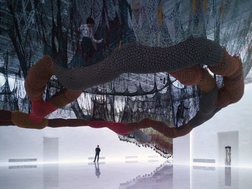 edboaden:  Woven maze by Ernesto Neto I love this exhibit / net / hammock / playground by Brazilian Neo-Concreto artist, Ernesto Neto. Just wish I could experience it in the flesh. Faena Arts Center, Buenos Aires via Fast Co. Design