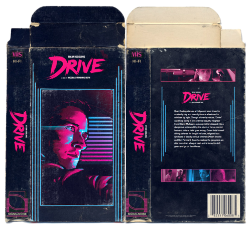 'Drive' VHS packaging concept.