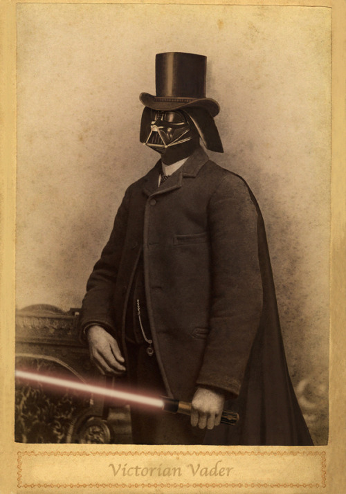 """Victorian Vader"" ~ by Terry Fan (via lacarpa)"