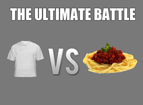 world-shaker:  Spaghetti always wins.