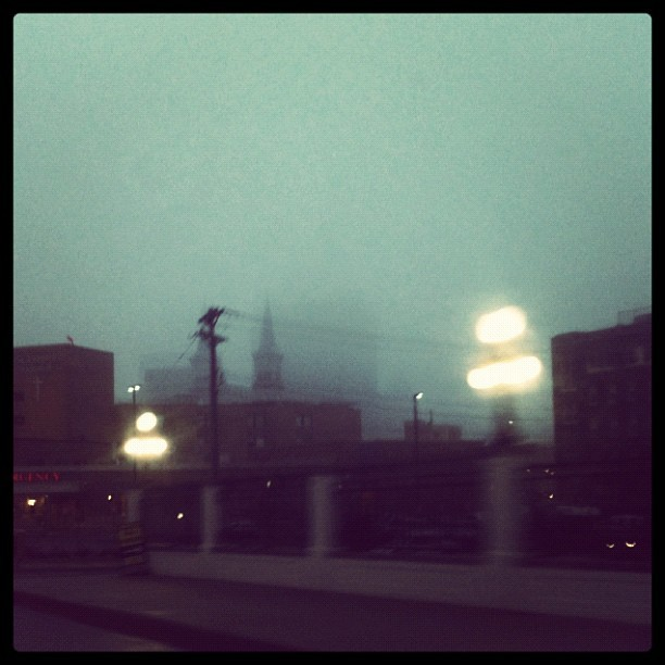 A few short blocks from our APM|MPR offices. trentgilliss:  A foggy St. Paul morn. (Taken with instagram)