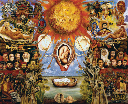 babagoogoosh:  Moses Nucleus Of Creation Frida Kahlo 1945