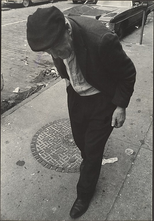 Street Scene: Elderly Man in Dark Plaid Cap, New York City] Leon Levinstein (American, Buckhannon, West Virginia 1910–1988 New York City) Date: 1970s