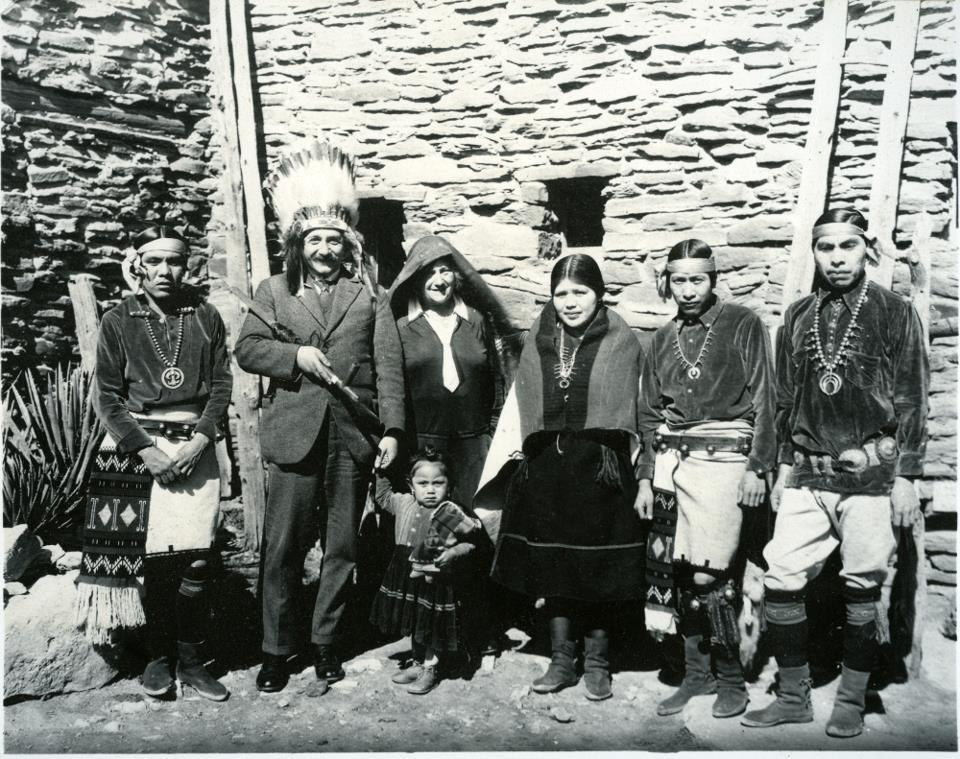 It is Albert Einstein visiting a Hopi family in 1931!