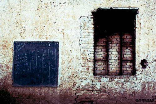 This is a picture of a school in a village of Sialkot, in Pakistan. The school is a middle standard school and there are schools present much worse than this. This is so sad. No electricity, Classes without chairs, No windows and above all locals say the place is haunted. For any developing nation, education has to be the highest priority to stand firm.  Without education it is complete darkness and with education it is light. Education is a matter of life and death to our nation. The world is moving so fast that if you do not educate yourselves you will be not only completely left behind, but will be finished up. - Muhammad Ali Jinnah