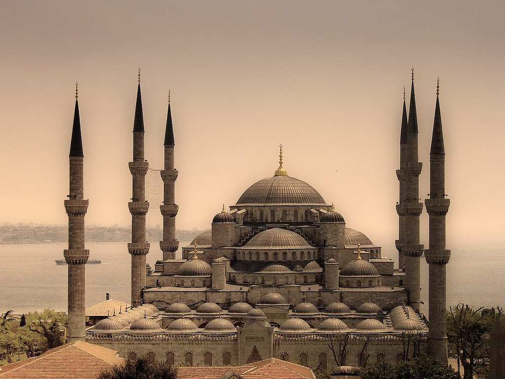 "Sultan Ahmet Mosque, Istanbul by Trent Gilliss, senior editor Turkey is most definitely on our brains. As it turns out, we'll be making a production trip in June (yay!) and so the extensive planning begins. What to do, what to do! No sooner did we find out than our old friend and former guest Omid Safi posted this magnificent photograph on his Facebook page along with this waxing caption:   ""Inside sacred sites like this, I know it's true that 'God is beautiful, and loves beauty.' The imaginative Muslim architects who designed it emulated Christian Byzantine masters, and strived to create a space that would stand free from columns. The ""opening"" that was created inside, the Christians and the Muslims agreed together, was to be filled by the very presence of God. By God, they succeeded.""  If you have suggestions on stories we might cover that fit our mission or voices that you think we ought to expose to a North American audience, please offer your suggestions in the comments section. Enjoy the view!"