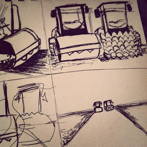 Storyboards for Cat Paving at Vetta-Zelo