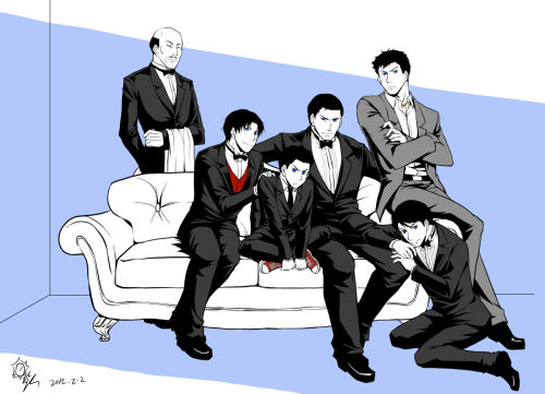 lectorel:  riyancyy777:  Gentlemen of bats family in suits! Suits is always my roman!  Found it! Thank you, loverwren. The reason I was looking for this was because I had a BruceTim idea that had originally been inspired by this and had been sitting on my hardrive since, until tonight the details suddenly came together. Onto the fic idea: Sweet and fluffy, D/s + Bondage,Bruce/Tim AU where sexualized slavery is a thing. They're a little bit very weird in that they actually have a fairly healthy relationship. (I have this vague backstory behind that, where Tim's mother used to be a slave, but, ah…it's Janet. She got stabbitty and headed for the hills, eventually marrying Jack and having Tim. Authorities had finally caught up with her, and since a child inherits their mother's status, Tim's fair game. She tells him to run, and he does.  Hiding on the streets, dodging police, etc, he runs into Batman one night post Jason being badly injured (but alive) from the joker's attack in Ethiopia, and ends up helping out. This continues to happen for a while, with Tim becoming something of a steady partner to Bruce.  Eventually, the police are about to catch up to Tim, and Bruce claims ownership to protect him. They'd already been toying with the D/s dynamic with Tim's unofficial Robin'ing. Tim can actually leave any time-disguise closet plus training plus Tim is Janet's son plus Bruce making sure the option is available-which means Tim actually has enough options to make the decision to engage or not engage in the relationship.) Beyond that, I have a handful of disconnected scenes that I'd like to write, someday. (Not November, b/c NaNo, not December, b/c Steph/Cass switched-at-birth fic…) Bruce cuffs Tim's hands behind his back. He can't work like that- so he doesn't have to. Theme exploration of Tim's subspace, the rules and expectations he has for himself, and the comfort he finds in handing over control, knowing he'll only be given as much back as he can handle. Tim waiting, kneeling by Bruce's door, after some highly traumatic event makes him retreat into the safety of his own head.. Bruce walks in, sees Tim, and realizes he's been there for hours. He gives Tim the order to help him with his coat, so Tim has something to focus. Tim takes refugee in being allowed to act as a manservant (removing his master's coat and hanging it up, kneeling and untying shoes, etc.) and being allowed to demonstrate his devotion and gratitude, his desire to serve. A focus on the meditative quality of Tim's behavior. Other things- falling asleep leaning against Bruce's legs, some exploration of the dynamic between Batman and Robin vs. Tim and his owner vs. Tim and Bruce, politics and other various forces mean that Bruce has to put a collar on Tim for some public event. Tim disliking it (because it reminds him of the fact that he very nearly didn't have a choice) but doing his best to act the part, because Bruce asked it of him.
