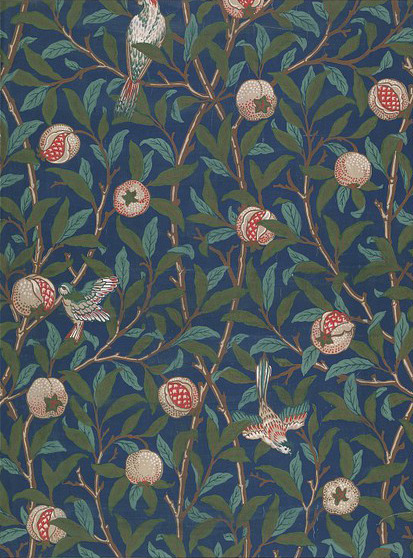 broadhaus:  William Morris :: Bird and Pomegranate Wallpaper 19thC