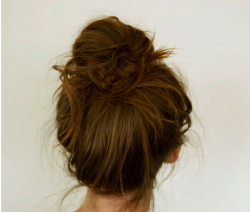 s-un-rise:  perfect messy bun