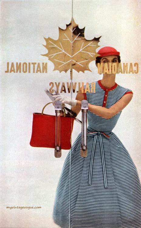 Harper's Bazaar May 1954 - Photo by Gleb Derujinsky Model
