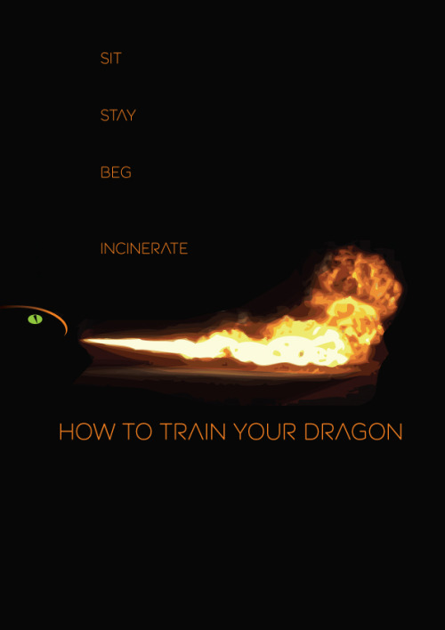 minimalmovieposters:  How to Train Your Dragon by mateyboy