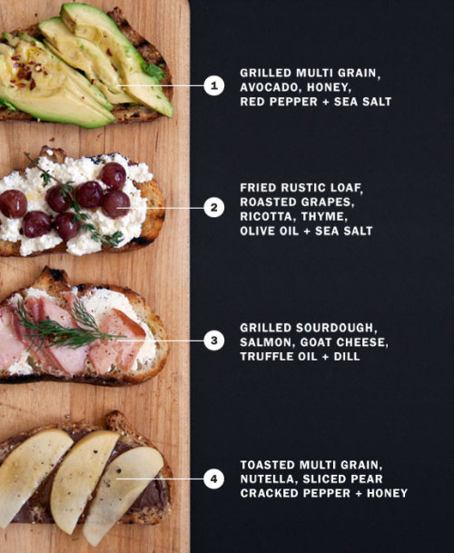 skinnykate:  gettingtomygoalweightby2012:  Healthy sandwich combinations full of ingredients that are good for you and delicious. No reason why you shouldn't try them out <3.  These look soooo yummy