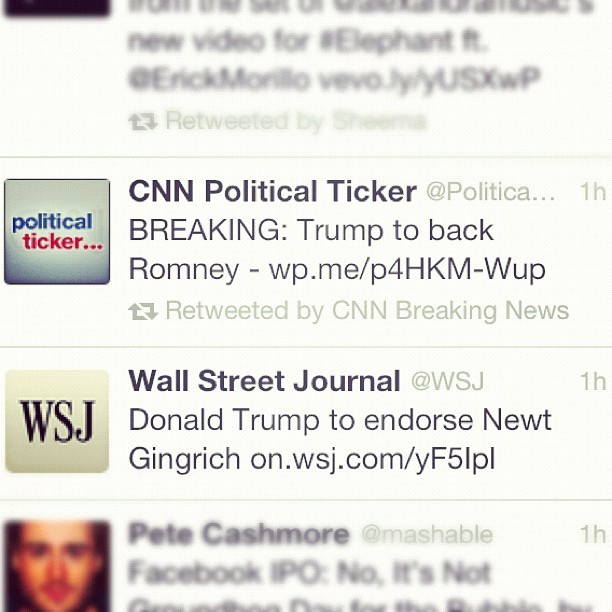 Ahh, mainstream media…so reliable. #election2012 #twitter #cnn #wsj #funny  (Taken with instagram)