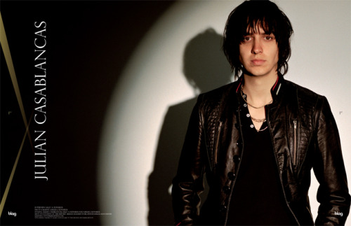 2010 - 2011 | BLAG Vol.3 No 2 Julian Casablancas cover feature extract Interview by Sally Photography by Sarah