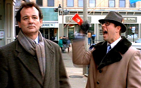 "On February 2, 1997, Bill Murray reached over the counter and choked a Starbucks employee for quoting the movie Groundhog Day to him. Despite nearly being strangled to death, the employee didn't press charges cause he's ""a huge Ghostbusters fan."""