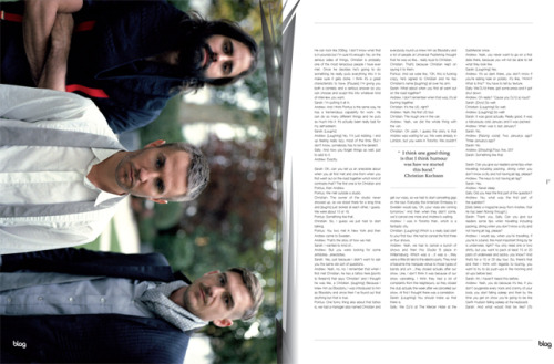 2010 - 2011 | BLAG Vol.3 Nø 2 Miike Snow feature Interview and Photography by Sarah