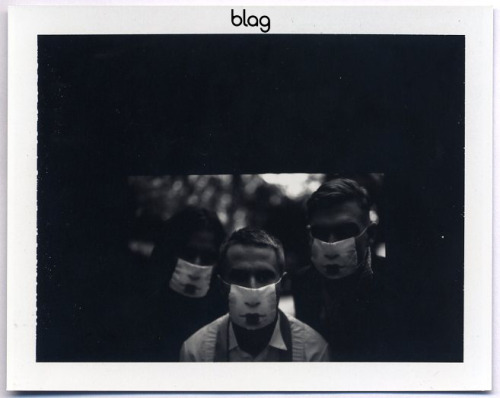 2010 - 2011 | BLAG Vol.3 No 2 Miike Snow photoshoot polaroids Photography by Sarah Andrew practices his Olympic speciality with the garden sculptures