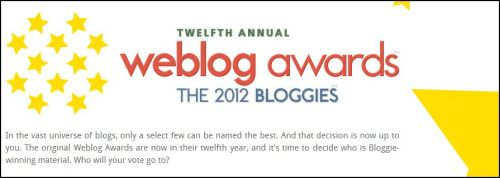 Woo hoo! Last year at this time I was nominated for the 2011 Bloggie awards and won for Best European Blog. This year, I'm nominated again! Would you help me out and give Lost In Cheeseland a vote? It's quick and simple, just be sure to check your email to confirm your vote! VOTE HERE.  Merci!