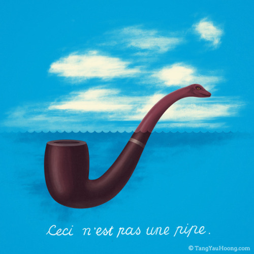 Ceci n'est pas une pipe on Flickr.By Tang Yau Hoong: Website | Shop | Facebook | Tumblr | Twitter  | Behance