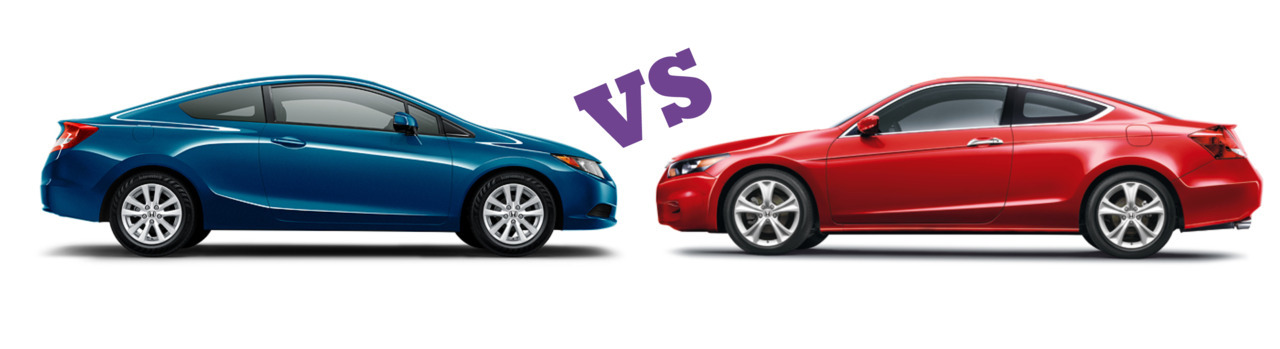 Honda Civic Coupe VS Honda Accord Coupe - who wins?