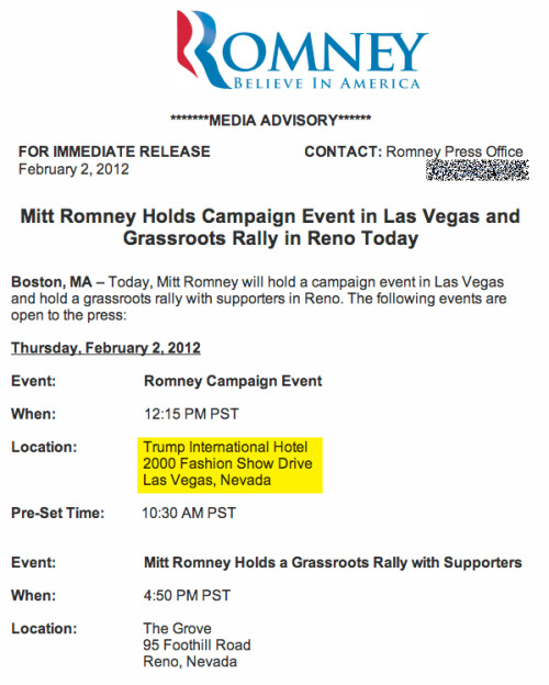 To answer your question: Romney is going to be holding an event at Trump's hotel today, likely precluding an endorsement. Wait, who wants an endorsement from TRUMP?!