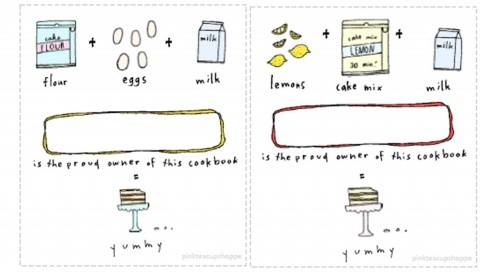 Cookbook bookplates, via pinkteacupshoppe