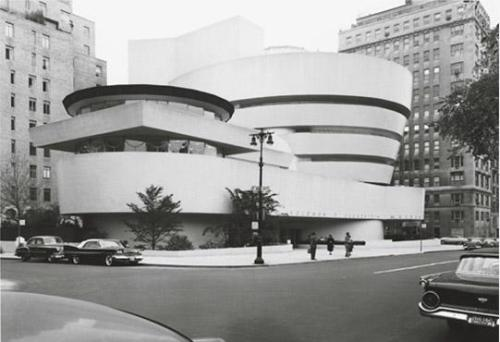 View of the Solomon R. Guggenheim Museum from Fifth ave. looking southeast, New York, ca. 1950 (photo: Robert Mates) A Timeline of the Guggenheim Museum, 1943-1959
