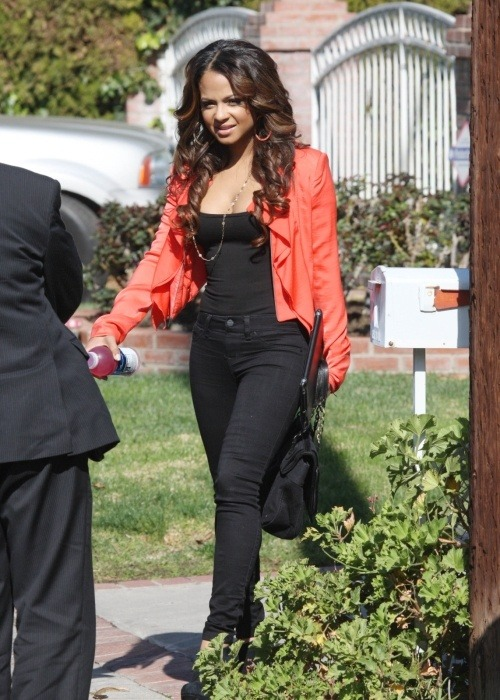 jorjor14:  Christina Millian leaving her home in Los Angeles, California.