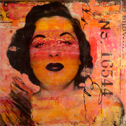 Marybeth Rothman, Lillian, 2011 - encaustic & mixed media —> in our exhibition What's In A Face, opening March 2nd.