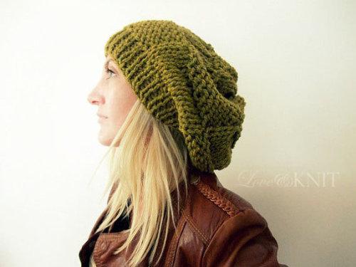 minekurtulmus:  LoveandKnit Hat + Bershka Leather Jacket