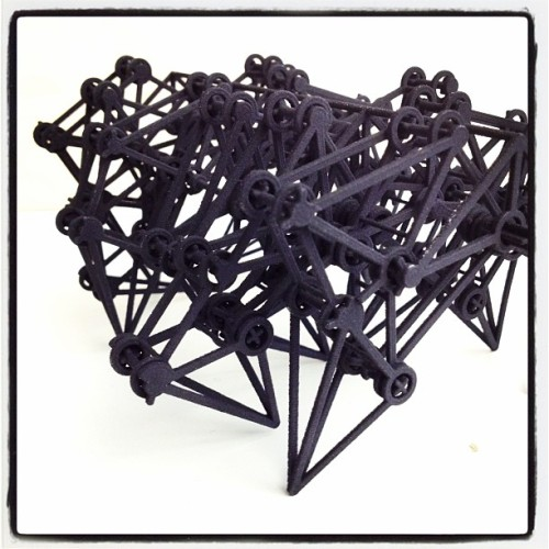 The Strandbeest 3D printed in BLACK by Shapeways. Looking ominous