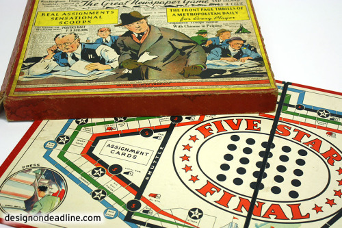 "Five Star Final (1937, Milton Bradley) – ""The Great Newspaper Game"""