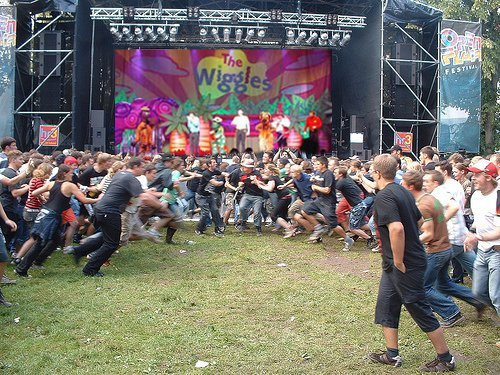 The wiggles mosh pits are pretty intense