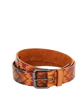 FASHION | River Island Navajo Belt While it might be considered in poor taste to have a Navajo print in Aztec colors, this belt is still pretty amazing.  $26.86 at ASOS.
