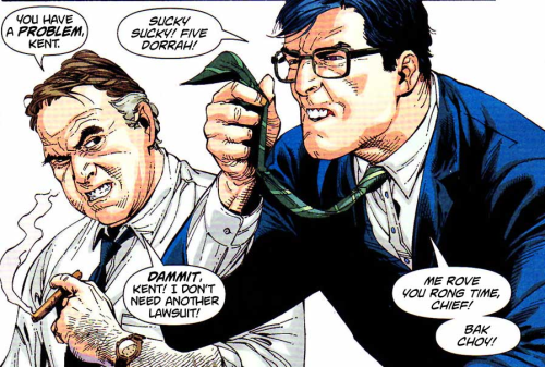 Little known fact: Clark Kent is super racist