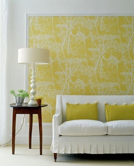 futurainteriors:  Affordable Decor: Smart Ways to Use Wallpaper in Small Doses | Apartment Therapy on We Heart It. http://weheartit.com/entry/22308747 Utilizing wallpaper to create that finishing touch and center the design.  I love the idea of using wallpaper as art. Especially if it's a vintage wallpaper, but even still there are so many gorgeous designs out there :)