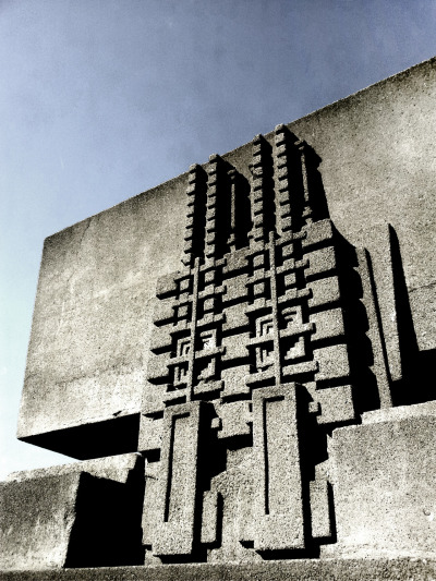 Detail from Hollyhock House by Frank Lloyd Wright. Taken in LA.
