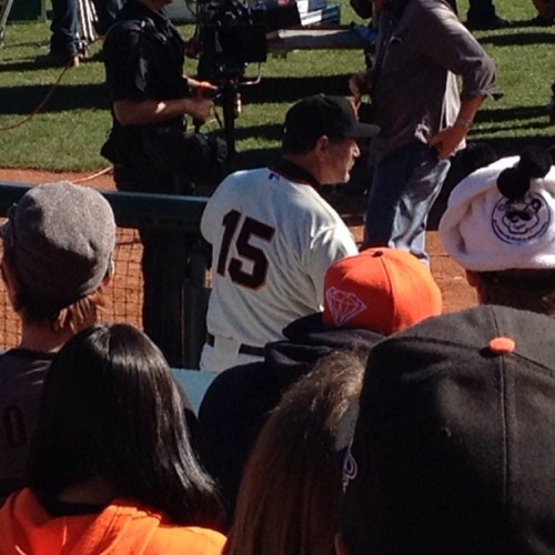 Looks like Bochy got his number back. You can keep the Rolex, Boch! (Taken with instagram)