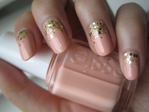 dorkifulditz:  Essie A Crewed Interest with China Glaze Blonde Bombshell and Milani Jewel FX Gold