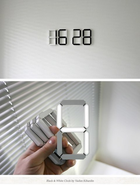 Black & White Clock by Kibardindesign