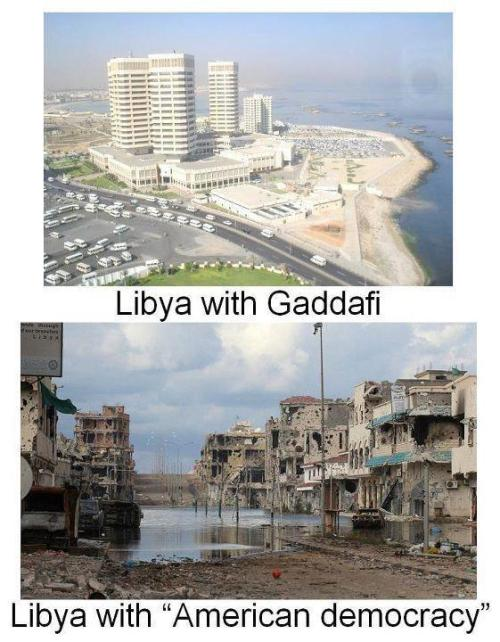 Not exactly how Obama said Democracy in Libya would look like.
