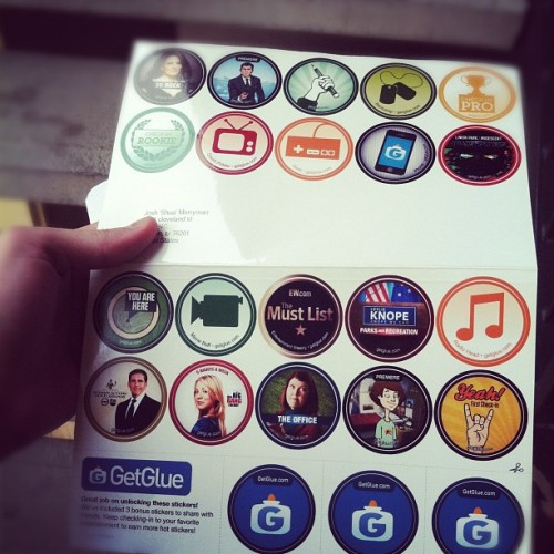 My @getglue stickers are here!!!