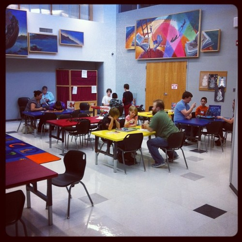 After school #boardgame club @ GCPL (Taken with Instagram at Garland County Library)