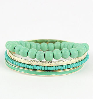 With Love From CA Blue Green Bracelet Set PacSun - $9.50