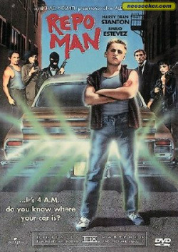 -FILM PICK OF THE WEEK- REPO MAN When Repo Man was first released back in 1984, it was a commercial flop, proving much too weird and subversive for mainstream audiences. Though well regarded by critics, writer/director Alex Cox's 1984 debut didn't catch on until much later with VHS and midnight screenings. The film has since been branded a cult classic alongside other dystopian satires such as Brazil and Sleeper, developing a following of movie nerds carrying a torch for baby-faced Emilio Estevez as a street punk turned car repossor.   READ FULL REVIEW HERE